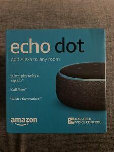 New Sealed Amazon Echo Dot (3rd Gen) Smart Speaker with Alexa Charcoal
