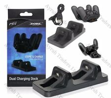 DUAL USB Ricarica Caricabatterie Docking Station Stand per Playstation 4 PS4 controller