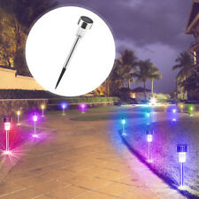 Stainless Steel LED Solar Power Light Outdoor Garden Lawn Path Lamps Decor DIY