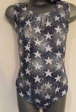Girls 10-12 Starry night sleeveless leotard disco/gymnastics/tap/dance/practice