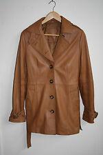TCM Tchibo Woman's Fashion Designer Lamb Nappa Leather Jacket Brown Size 10