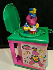 Barney Jack in the box Musical Toy Purple Dinosaur Wind up pop out Vintage 1997