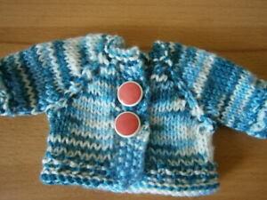 Strickjacke gestrickt für einen kleinen Teddybären Teddy Kleidung Bärenkleidung