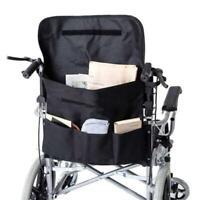 Rollstuhl Tasche Rucksack Einkaufstasche Rollstuhlzubehör Tasche Bag in Schwarz