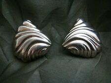 Beautiful Signed Christian Dior Designer Clip Earrings - Sterling Silver 16.3 gr
