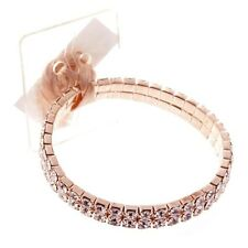 Slim Diamonte Corsage Bracelet 9mm Rose Gold