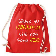 Art T-shirt, Zaino Non Sono Ubriaco, Rosso,Sacca Gym
