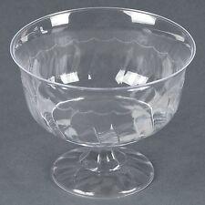 Fineline Settings 8 oz. Clear Plastic Dessert Ice-Cream Cups, 50-Piece Pack