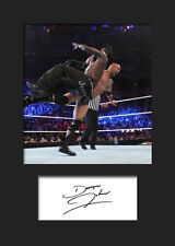 THE ROCK #2 (WWE) Signed Photo A5 Mounted Print - FREE DELIVERY