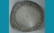 """8"""" sterling  silver TRAY in REPOUSSE pattern by BALTIMORE S S Co 1902y 254grams"""