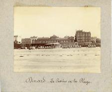 France, Dinard, Le Casino et la Plage  Vintage print.  Tirage platine  6x8