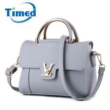 Fashion Women Faux Leather Shoulder Bags Elegant Lady Crossbody Bags Gray