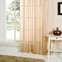 "Emma Barclay One Plain Voile Curtain LUCY 153 x 228 cms (60 x 90"") COFFEE NEW"
