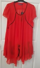 Women's Dress Top Size L  - Brand New With Tags - Red