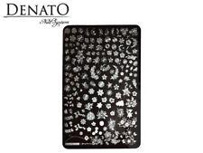 Stamping Plate No55 Flower Design Stainless Steel Deep & Precise Nail Art Denato