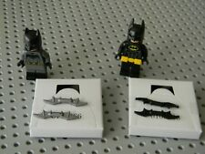 Lego Super Heroes - 2 Batman Minifigures - Gray and black suits - New Condition
