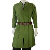 MEDIEVAL FANTASY VIKING NORSEMAN ELVEN LOTR Mens All Period SHIRT TUNIC LARP New
