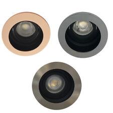 10 x GU10 Tilt Led Ceiling Downlight Spotlights Rose Gold / Satin / Chrome