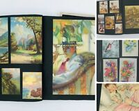 Antique Die-Cut Scrapbook Trade Card Album Ephemera Advertising Magazine 60+pg
