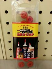 LITTLE RED CAP REUSABLE CAPS Covers the tips of caulk Tubes and Glue Bottle Tips