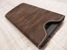 HTC One (M8) Cuir Coque de protection pour portable pochette étui marron