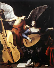 Dream-art Oil painting Saint Cecilia and the Angel playing cello canvas art 36""