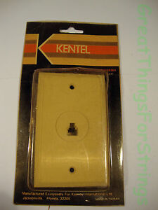 Kentel Telephone Accessories Flush Mount Modular Jack RJ-11 Phone Plate Beige