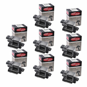 Set of 8 Delphi Ignition Coil GN10298 For Chevrolet GMC Cadillac 1999-2009