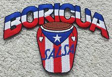 PUERTO RICO BORICUA SALSA FLAG PATCH Cloth Badge Biker United States of America