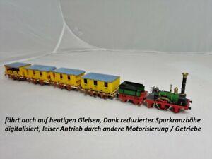 Trix H0 Adler Zugset anno 1835 mit 4 Wagen 2-Leiter digital DCC Funktion geprüft