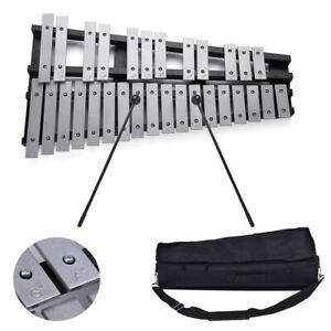 Foldable 30 Note Glockenspiel Xylophone Wooden Frame Aluminum Percussion R3Y3