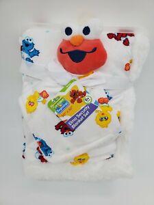 ELMO Baby Sherpa Blanket Security Set Sesame Street Cookie Monster Big Bird B64