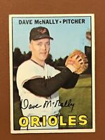 1967 Topps Dave McNally Card #382 NM Orioles