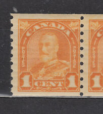 1930-1 #178 1¢ KING GEORGE V ARCH/LEAF ISSUE COIL IN  F+NH