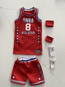 "Custom 1/6 Lakers Kobe Bryant ""2003 All Star"" Jersey Set for ENTERBAY"