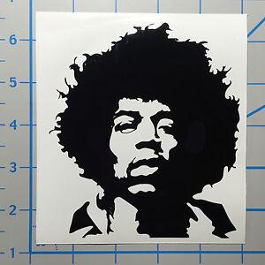 "Jimi Hendrix 5"" Black Vinyl Decal Sticker BOGO"