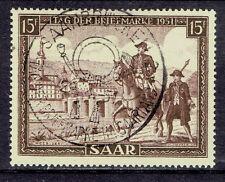 Saar o MiNr 305 Tag der Briefmarke Postbote Pferd