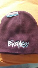 The Business -  Claret & Blue Embroidered Beanie