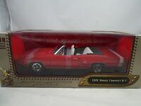 1:18 Road Signature #92547 1970 Dodge Coronet R/T Convertible Red - Rareza§