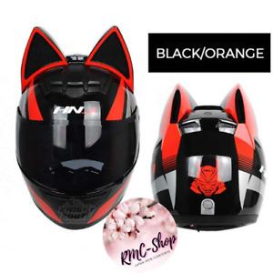 Cat ear full face helmet motorcycle for men and women