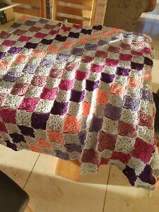 Crochet throw handmade