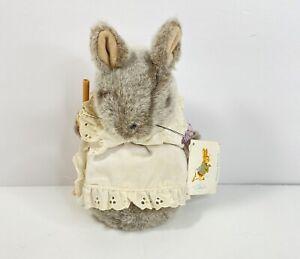 """EDEN 8"""" Plush HUNCA MUNCA Mouse PETER RABBIT Beatrix Potter Vintage with tags S1"""