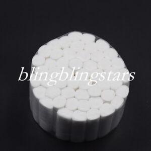 50 Rolls Dental Cotton Fiber Disposable Absorbent Hemostatic Soft Pliable Wadded
