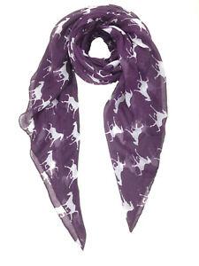 ELSA & ANNA® Viscose Horse Print Lady Scarf Wrap Shaw Stole Maxi Hijab SCF01