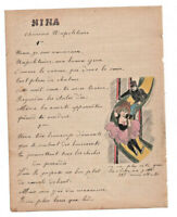 1907 military soldier manuscript lyrics NINA napolitean song 2 sexy drawings