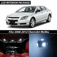 2008-2012 Chevrolet Malibu White Interior LED Lights Package Kit