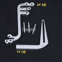 1X Dental implant guide set tooth Measuring ruler tool calipers Bone ridge S&L