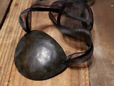 Forged Metal Eye Patch | Adult Medieval Halloween Pirate Cosplay Costume | Steel