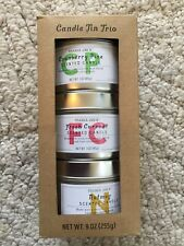 Trader Joe's Candle Tin Trio LIMITED HOLIDAY ITEM