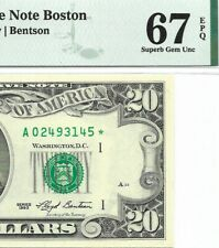 1993 $20 BOSTON * STAR * ⭐️ FRN, PMG SUPERB GEM UNCIRCULATED 67 EPQ BANKNOTE